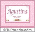 Agustina - Significado y origen