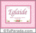 Eglaide - Significado y origen