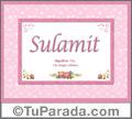 Sulamit - Significado y origen