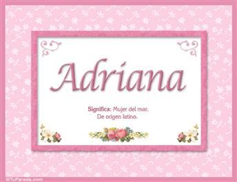 Adriana - Significado y origen