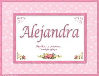 Alejandra - Significado y origen
