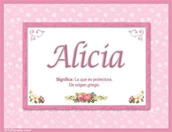 Alicia - Significado y origen