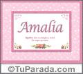 Amalia - Significado y origen