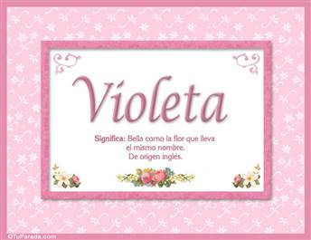 Violeta - Significado y origen