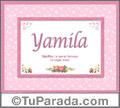 Yamila -  Significado y origen