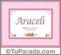 Araceli - Significado y origen