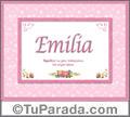 Emilia - Significado y origen