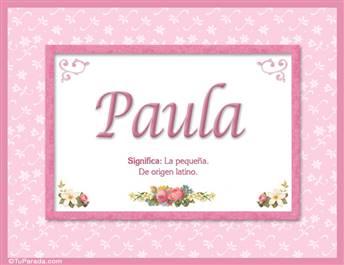 Paula - Significado y origen