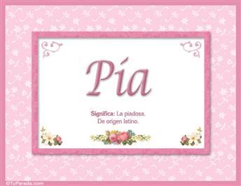 Pía - Significado y origen