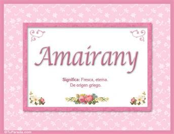 Amairany - Significado y origen