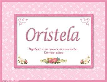 Oristela - Significado y origen