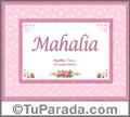 Mahalia - Significado y origen