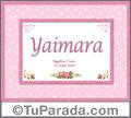 Yaimara - Significado y origen