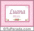 Luana - Significado y origen