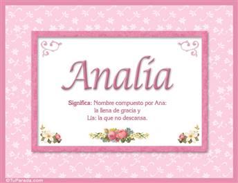 Analía - Significado y origen
