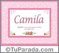 Camila - Significado y origen