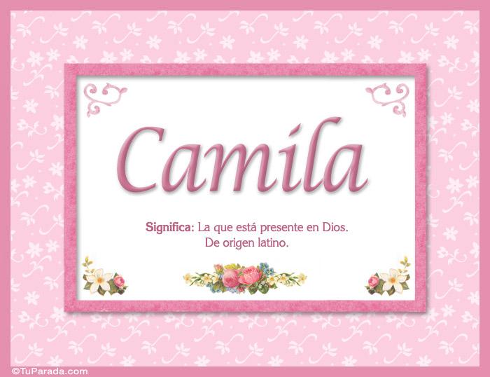 Camila - Significado y origen - Nombres Mujer - Imágenes