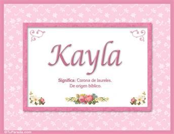 Kayla - Significado y origen