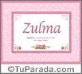 Zulma - Significado y origen