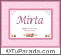 Mirta - Significado y origen