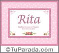 Rita - Significado y origen
