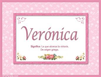 Verónica - Significado y origen
