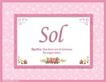 Sol - Significado y origen