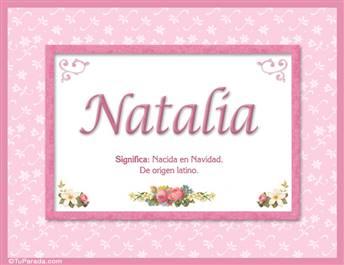 Natalia - Significado y origen