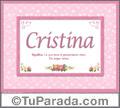 Cristina - Significado y origen