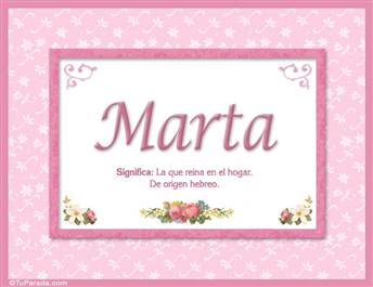 Marta - Significado y origen