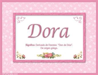 Dora - Significado y origen