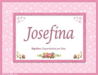 Josefina - Significado y origen