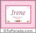 Irene - Significado y origen