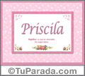 Priscila - Significado y origen