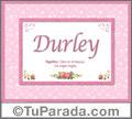 Durley - Significado y origen