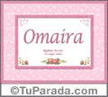 Omaira - Significado y origen