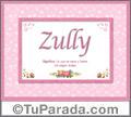 Zully - Significado y origen