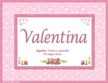 Valentina - Significado y origen