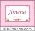 Jimena - Significado y origen