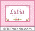 Lubia - Significado y origen