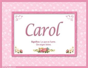Carol - Significado y origen