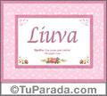 Liuva - Significado y origen