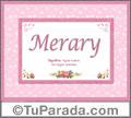 Merary - Significado y origen