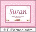 Susan - Significado y origen