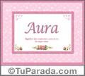 Aura - Significado y origen