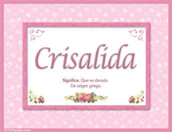 Crisalida - Significado y origen