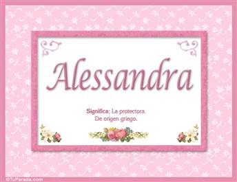 Alessandra - Significado y origen