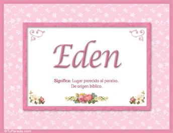 Eden - Significado y origen