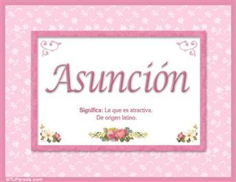Asunción - Significado y origen