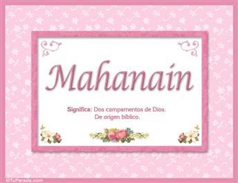 Mahanain - Significado y origen